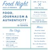 Food, Journalism & Authenticity: panel on Tuesday, Jan. 27