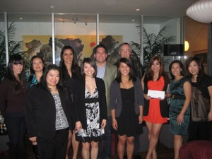 At a January 21 banquet, members of the AAJA-LA board honored four college students in Sherman Oaks with scholarships ranging from $1,000 to $2,500.
