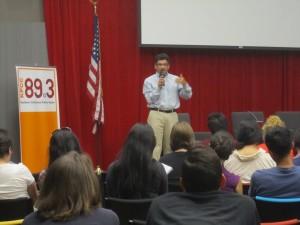 LA Times Asst. National Editor Steve Padilla at KPCCs Crawford Family Forum.