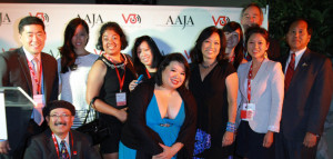 """2012 V3 Steering Committee: The Steering Committee was comprised representatives from AAJA-LA, IW Group, and the former Banana Conference.  (L-R) Craig Tomiyoshi, Gil Asakawa, Shawn Wong, Shraddha Swaroop, Anh Do, Jocelyn """"Joz"""" Wang, Denise L. Poon, Jen Ju, Henry Fuhrmann, Sarah Ford, David Iwata.  Not pictured: Bill Imada, Lac Su."""
