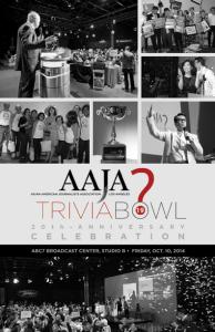 2014 Trivia Bowl Program Cover